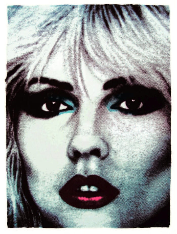 John Dove and Molly White Debbie Harry (Face No.5), 2012 Screen print on hand-made rag paper, made from recycled T-Shirts. Signed, numbered and titled on the verso. Edition 100 76 x 56cm 29.9 x 22 Edition of 100