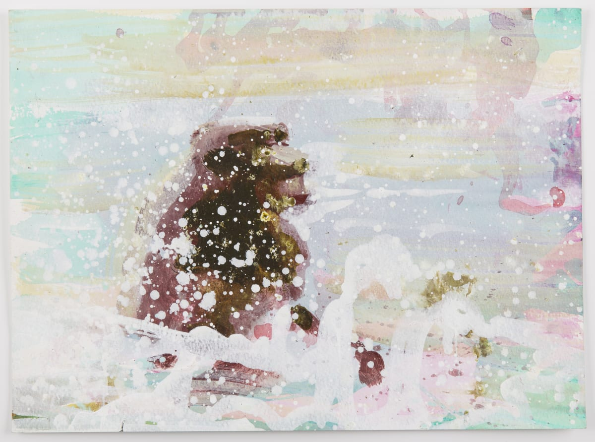 Susie Hamilton SH155 Soda Lake/2, 2003 Acrylic on paper 28 x 38 cm
