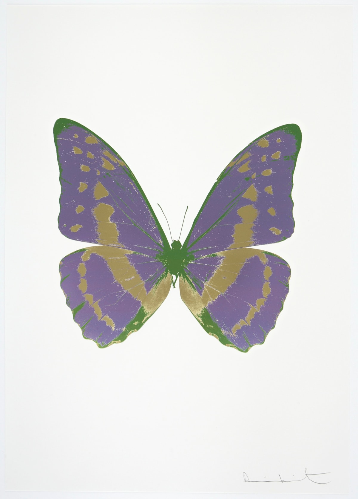 Damien Hirst The Souls III - Aquarius/Cool Gold/Leaf Green, 2010 3 colour foil block on 300gsm Arches 88 archival paper. Signed and numbered. Published by Paul Stolper and Other Criteria 72 x 51cm OC7932 / 660-35 Edition of 15