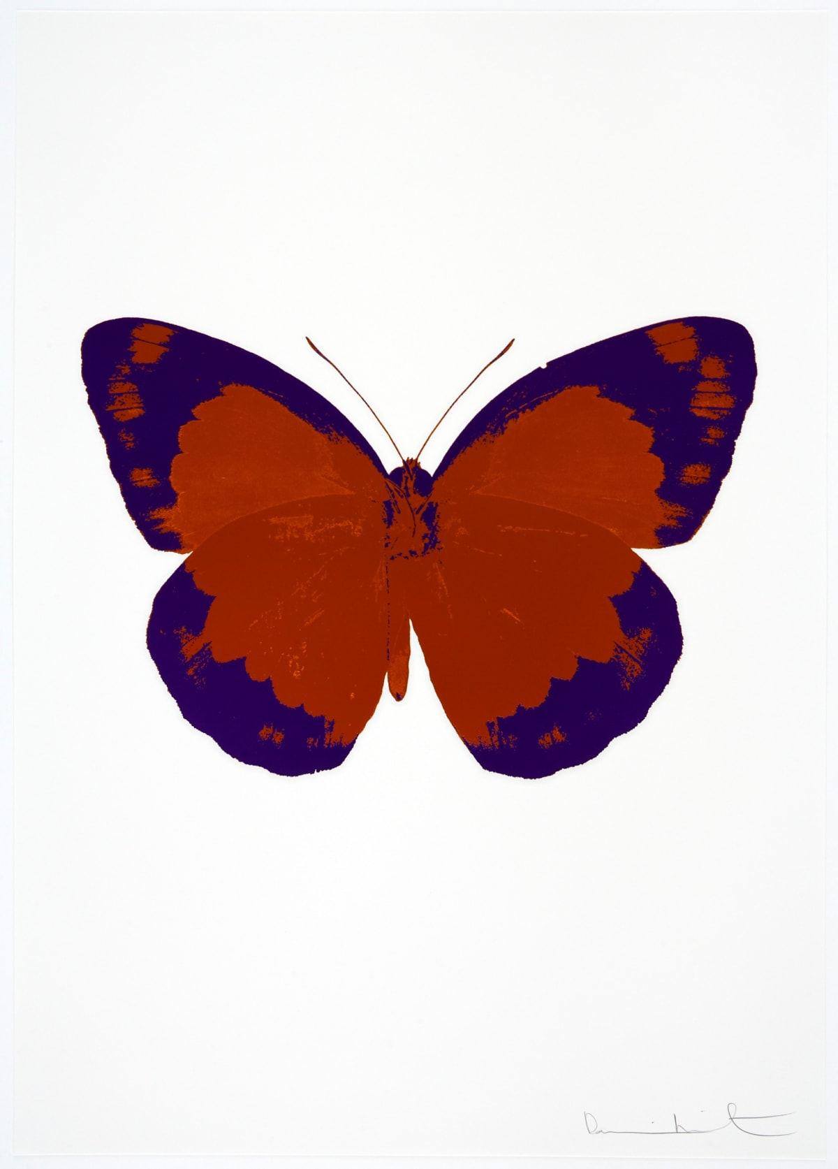 Damien Hirst The Souls II - Prairie Copper/Imperial Purple/Blind Impression, 2010 2 colour foil block on 300gsm Arches 88 archival paper. Signed and numbered. Published by Paul Stolper and Other Criteria 72 x 51cm OC7857 / 658-40 Edition of 15