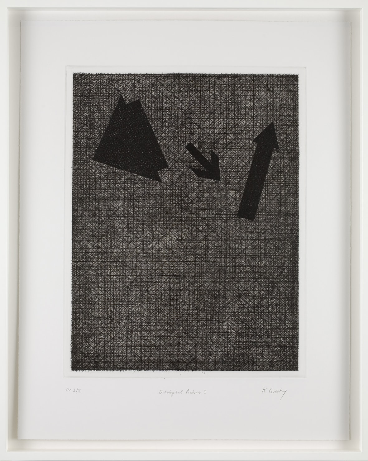Keith Coventry Ontological Picture I, 2008 Etching on Somerset 300gsm Signed, Titled and Numbered 61 x 48.5 cm Edition of 50