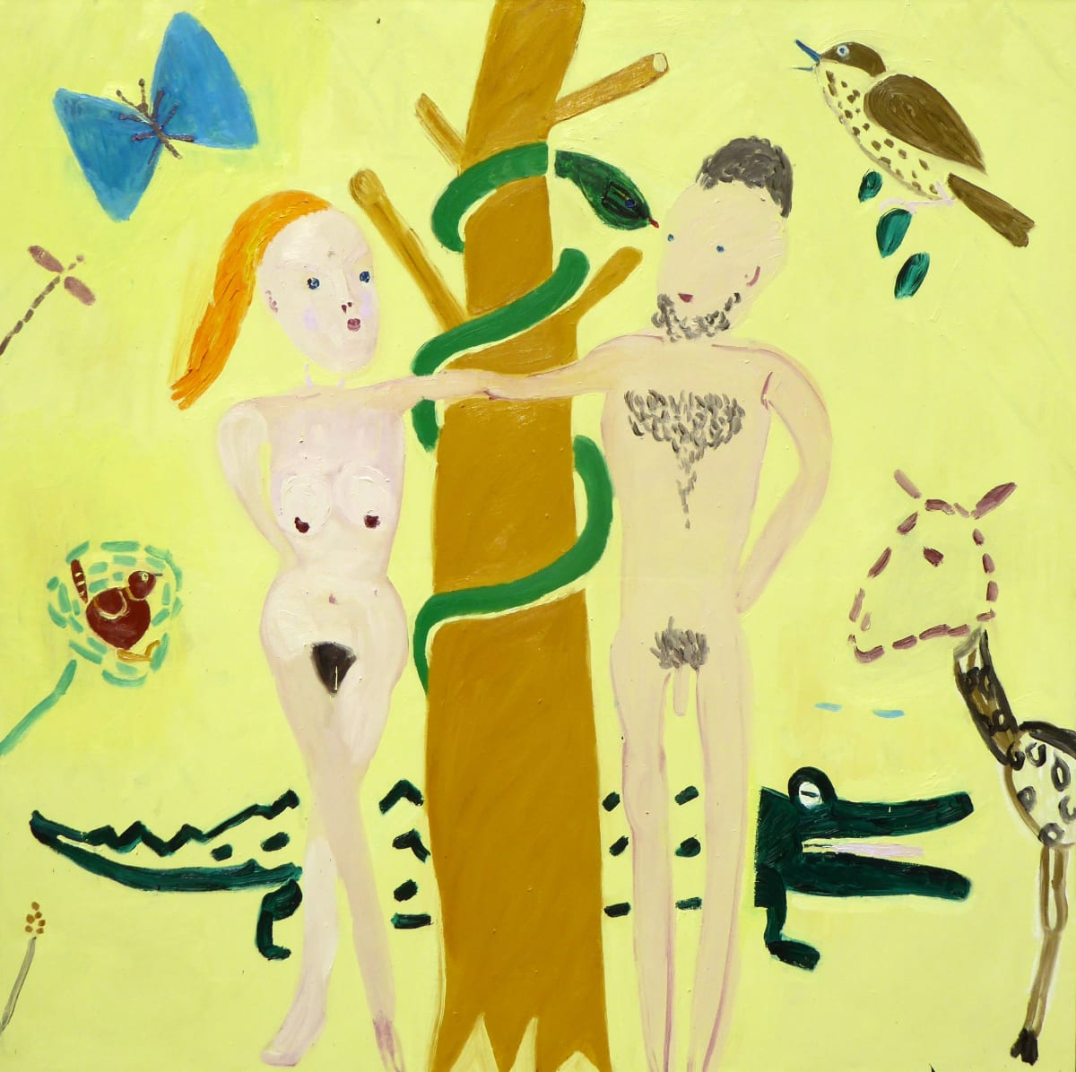 Georgia Hayes Still in the Garden, 2015 Oil on canvas. Signed on verso 183 x 183 cm
