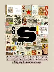 Peter Blake The Letter S, 2007 Silkscreen, embossing and glaze on Somerset satin 300gsm Signed and numbered 52 x 37.5 cm Edition of 60