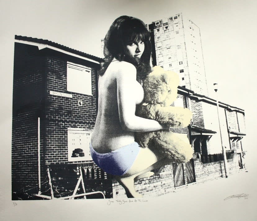 Sarah Hardacre Some Teddy Bears Have All the Luck, 2011 Four Colour Photo Screen Print on Somerset Grey Velvet Paper 56 x 62 cm Edition of 30