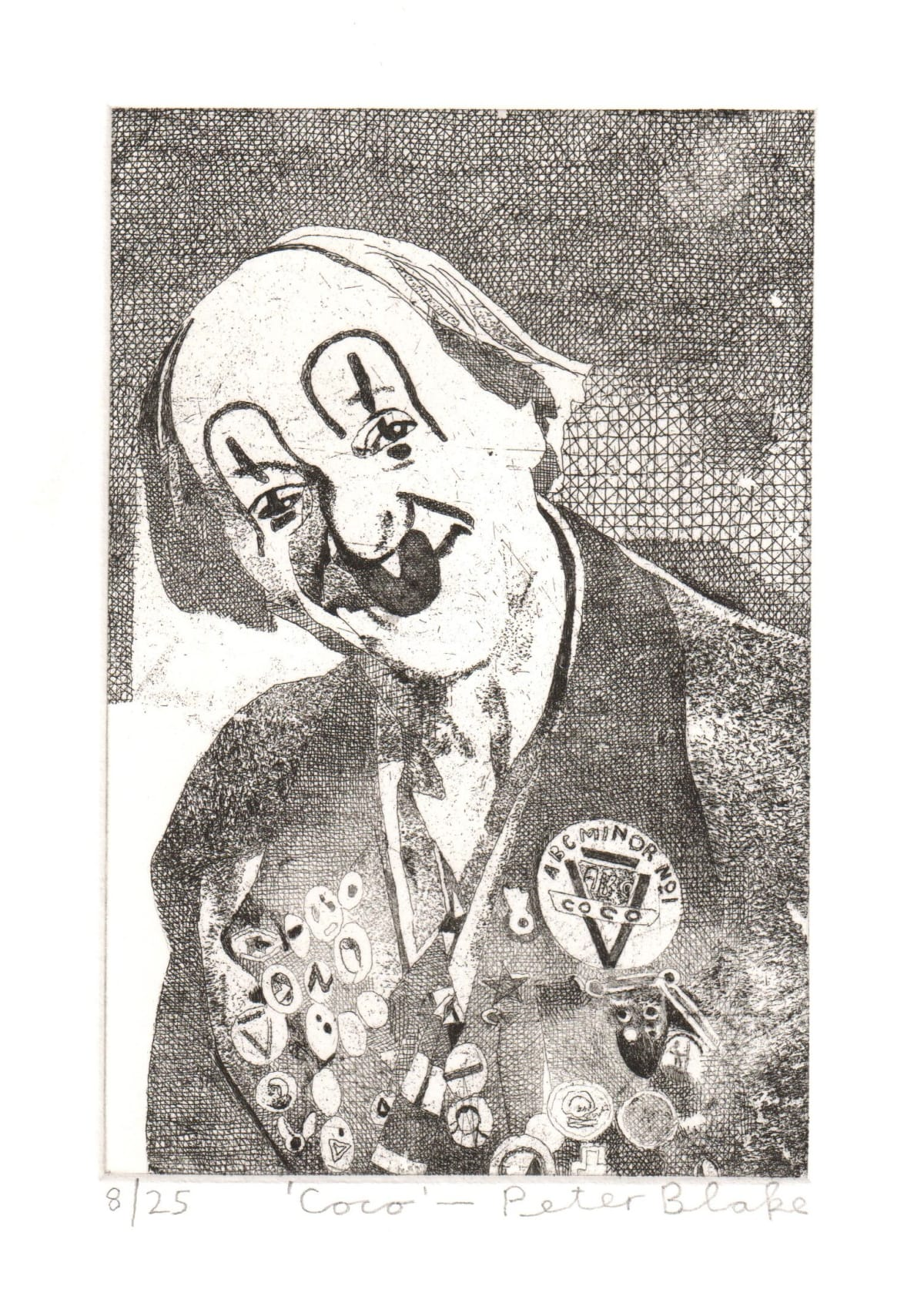 Peter Blake Coco, 2019 Etching on somerset 300gsm velvet Signed, titled and numbered Sheet Size: 26 x 21 cm Image size: 10 x 15 cm Edition of 25