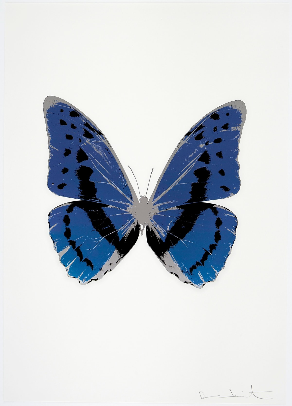 Damien Hirst The Souls III - Frost Blue/Raven Black/Silver Gloss, 2010 3 colour foil block on 300gsm Arches 88 archival paper. Signed and numbered. Published by Paul Stolper and Other Criteria 72 x 51cm OC7903 / 660-6 Edition of 15