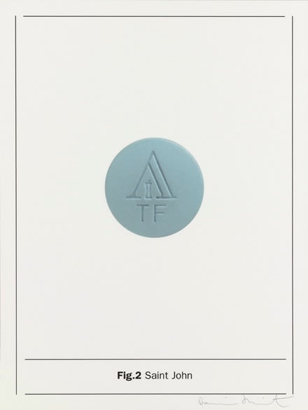 Damien Hirst Fig.2 Saint John, 2005 Silkscreen on Somerset satin, 410gsm Signed and numbered 66.7 x 50cm Edition of 80 Published by Paul Stolper and Other Criteria