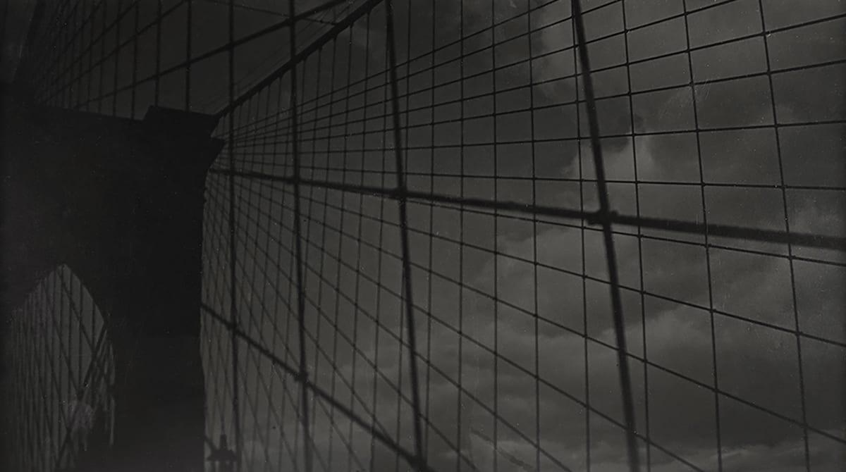 Fred Zinnemann Brooklyn Bridge, November 1931 Vintage gelatin silver print 7 3/4 x 13 7/8 inches