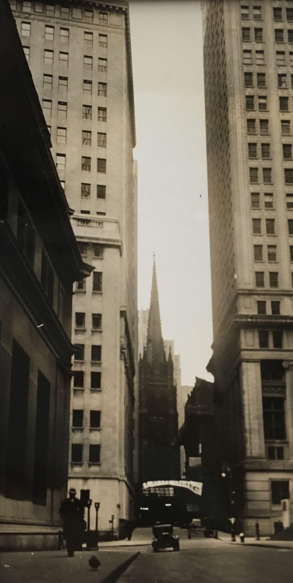 Fred Zinnemann 131 Wall St. Church, New York, Nov. 31 1931 Vintage gelatin silver print 2 1/2 x 4 inches