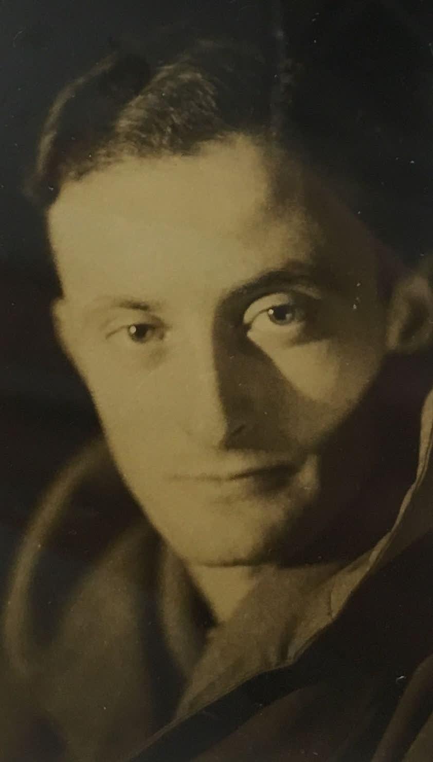 Fred Zinnemann Self-Portrait, 1931 Vintage gelatin silver print 3 5/8 x 2 1/4 inches