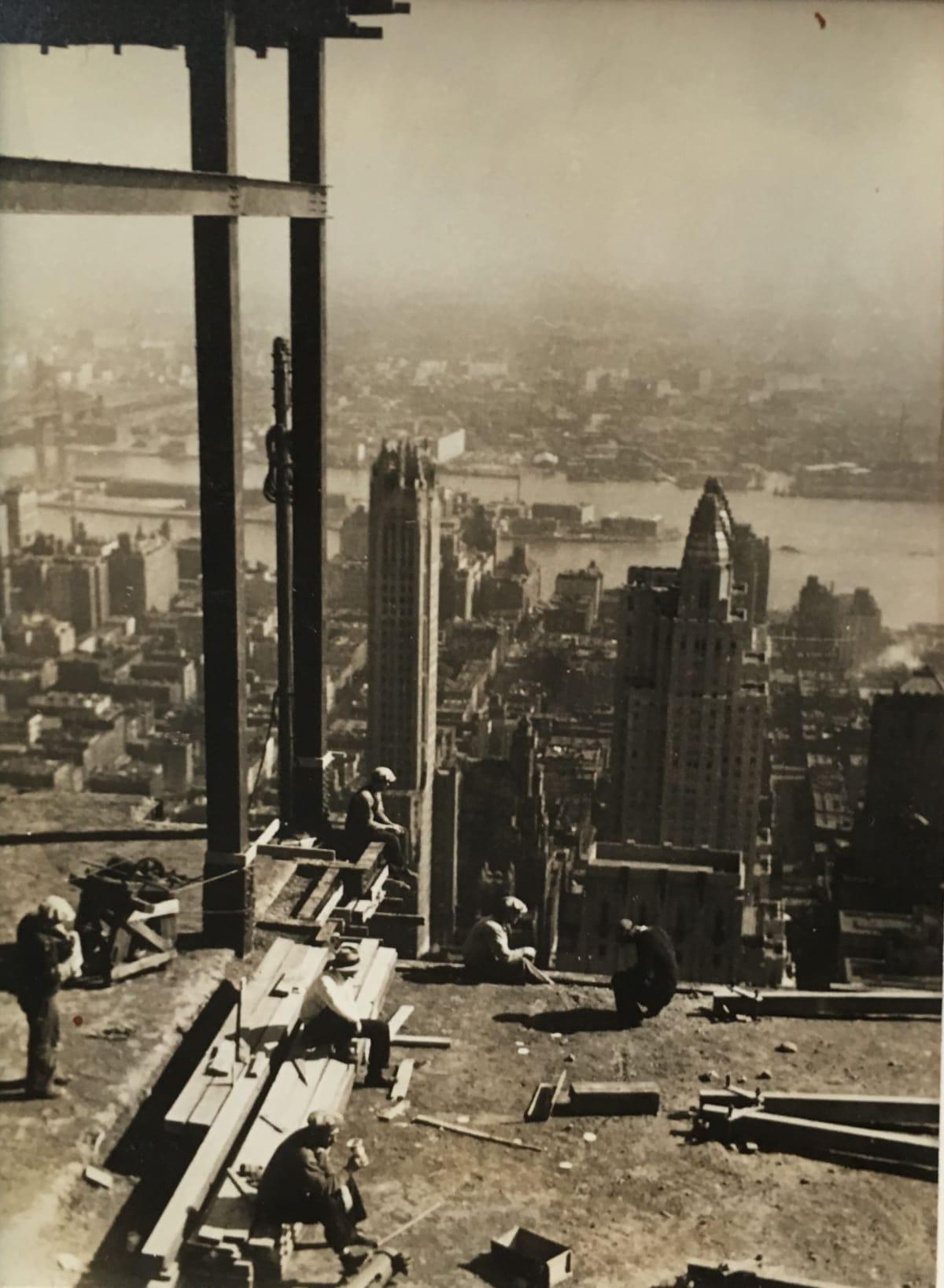 Fred Zinnemann Men on Skyscraper, 1931 Vintage gelatin silver print 4 1/16 x 2 15/16 inches