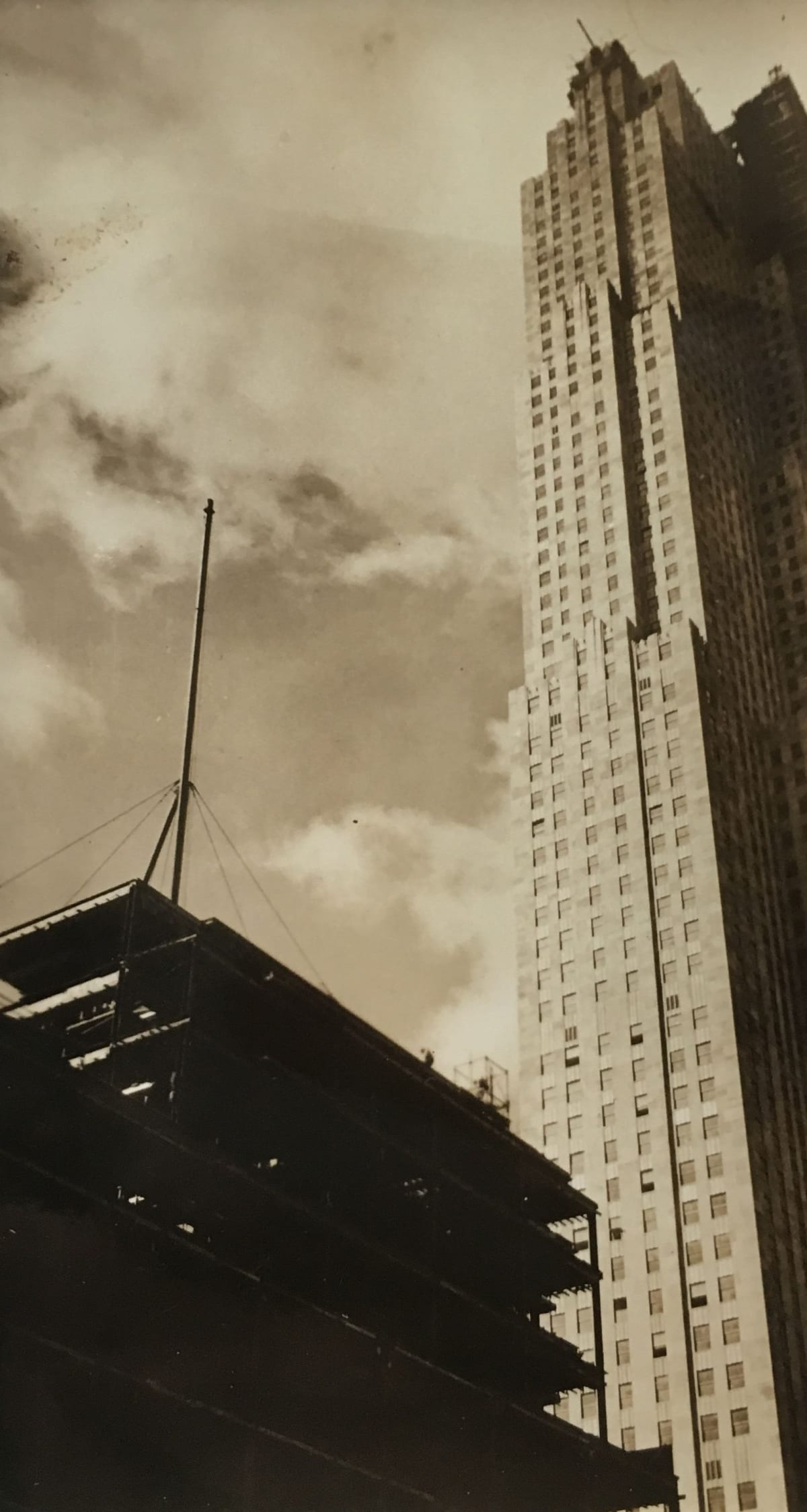 Fred Zinnemann Untitled [skyscrapers], 1932 Vintage gelatin silver print 4 1/8 x 2 3/8 inches