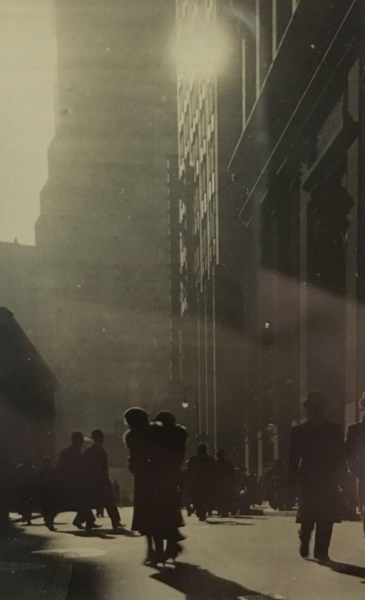 Fred Zinnemann Untitled [city view], 1932 Vintage gelatin silver print 3 1/8 x 2 inches