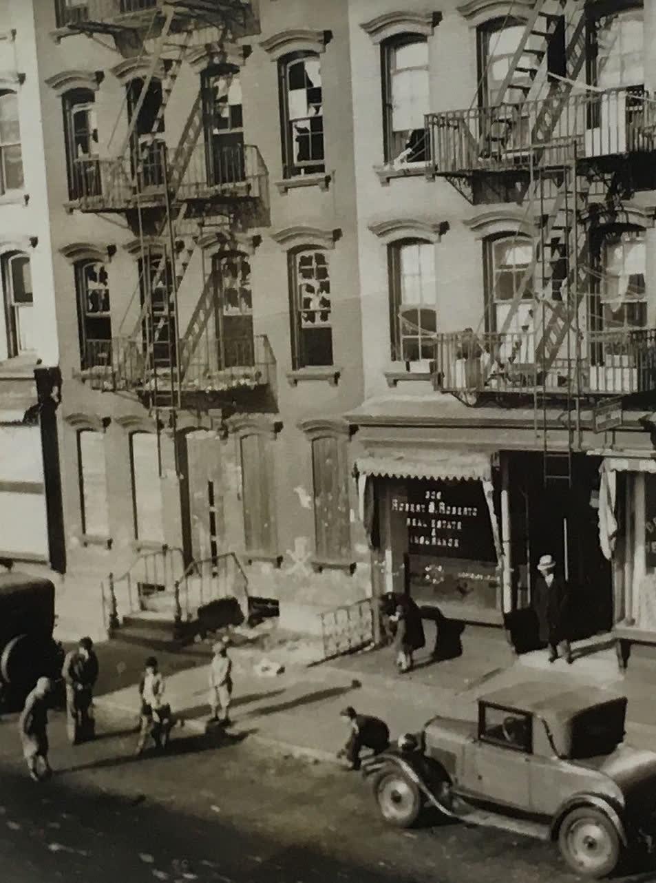 Fred Zinnemann Untitled [view of street], 1932 Vintage gelatin silver print 4 x 3 1/8 inches