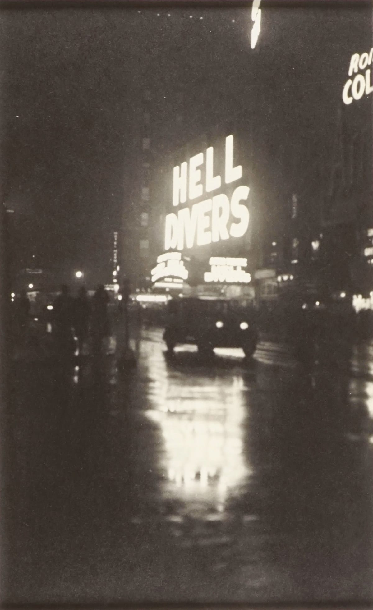 Fred Zinnemann Hell Divers, Rainy Street on Times Square, New York, January, 1931 Vintage gelatin silver print 13 1/8 x 8 inches