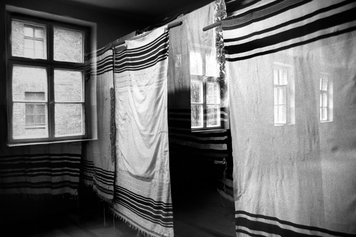 """Judy Glickman Lauder Tallit prayer shawls, Auschwitz extermination camp, Poland, 2018 Archival Pigment print 18 x 22"""""""