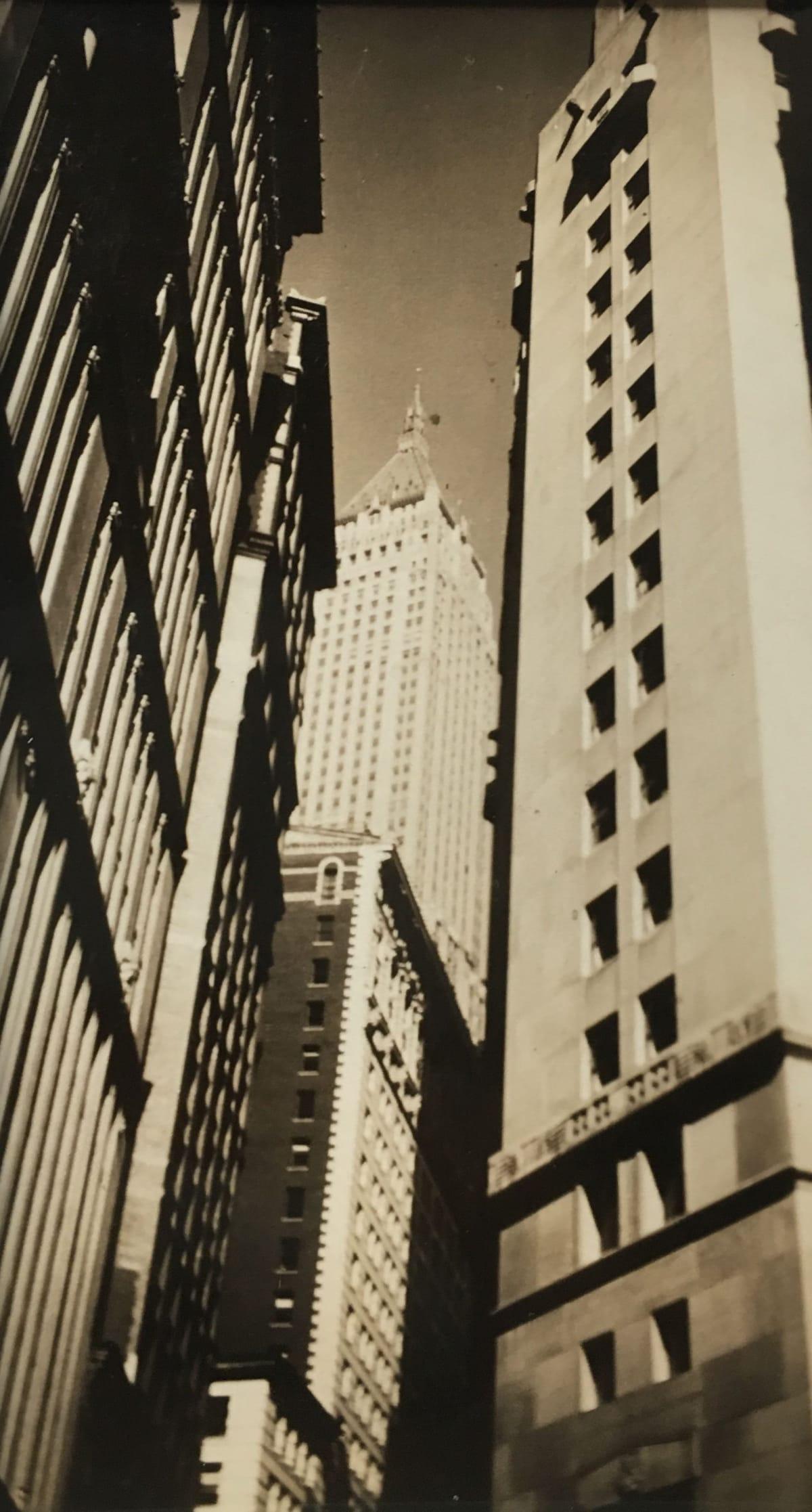 Fred Zinnemann Buildings, New York, 1932 Vintage gelatin silver print 4 1/4 x 2 7/16 inches