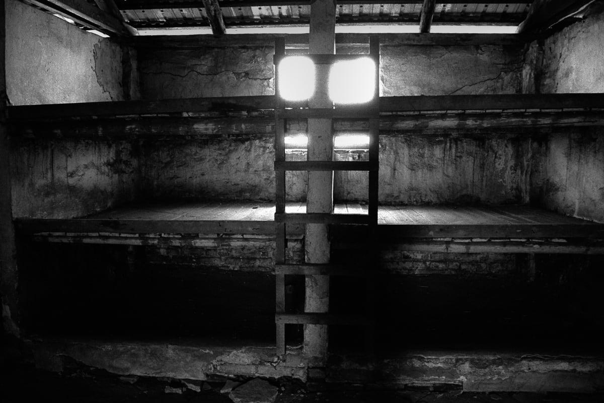"Judy Glickman Lauder Prisoners' barracks, Birkenau extermination camp, Poland, 2018 Archival Pigment print 18 x 22"""
