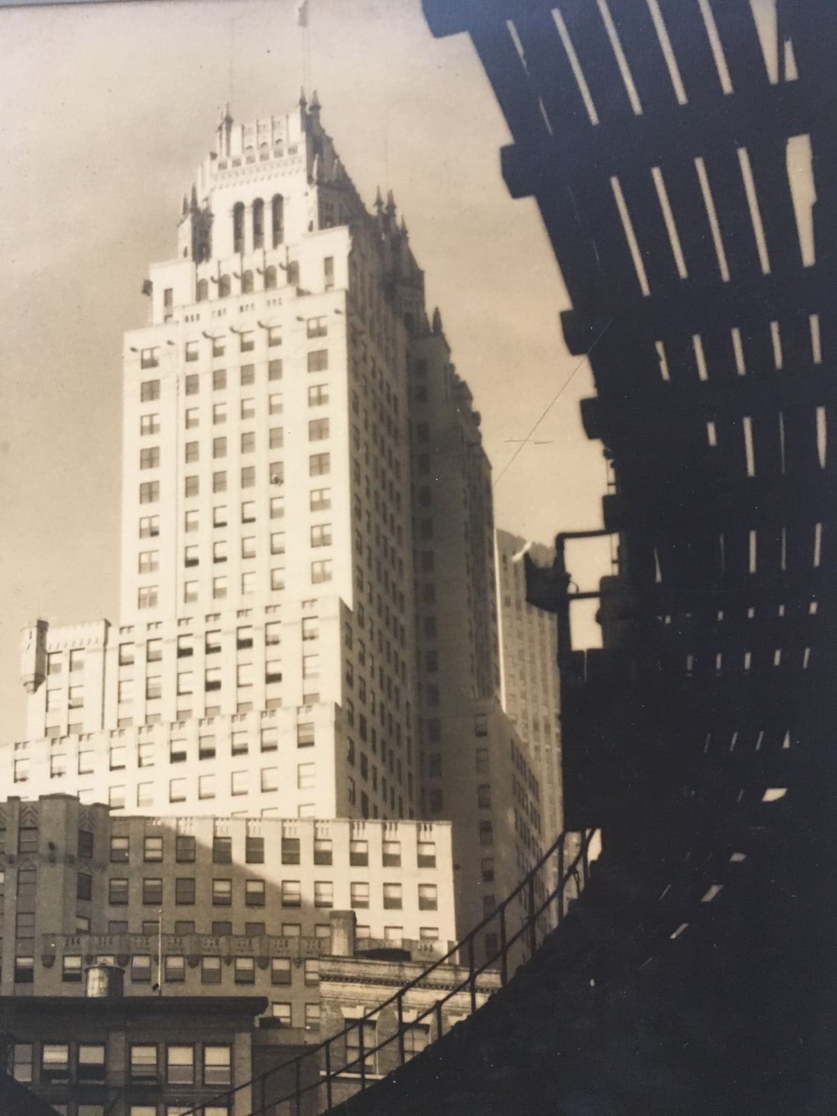 Fred Zinnemann City View with Elevated El, 1932 Vintage gelatin silver print 9 1/2 x 6 3/4 inches