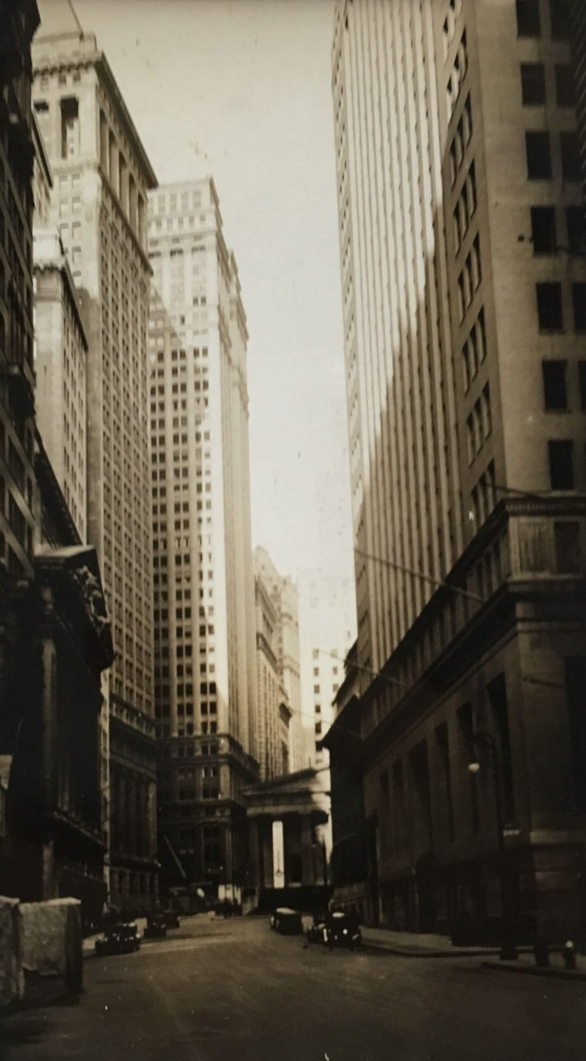 Fred Zinnemann Wall Street, August 31, 1932 Gelatin silver print 4 1/4 x 2 1/2 inches; Signed, titled & dated in pencil on verso