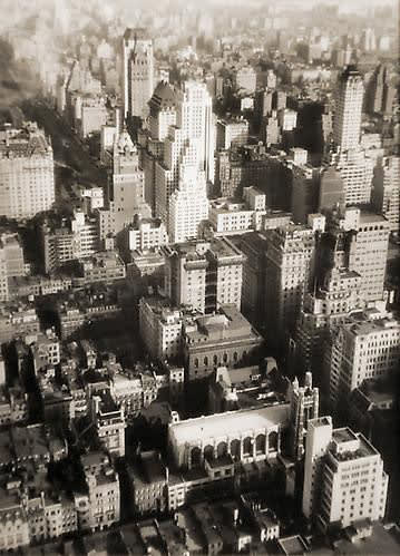 Fred Zinnemann Untitled [aerial cityscape], n.d. Vintage gelatin silver print 4 1/2 x 3 1/4 inches