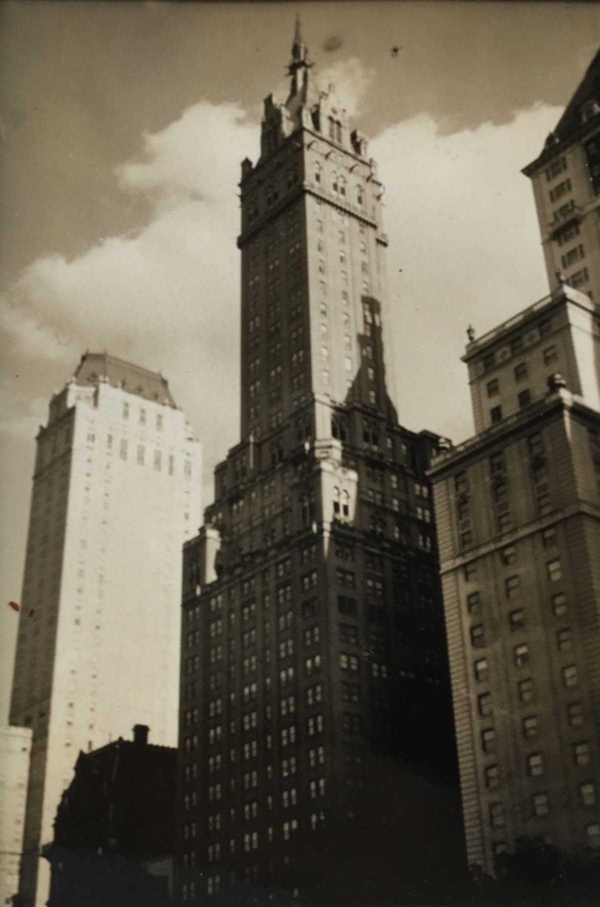 Fred Zinnemann Hotel Pierre, Sherry Netherland, Savoy Plaza, October 1931 Gelatin silver print 3 1/4 x 2 1/4 inches; Signed, titled & dated in pencil on verso