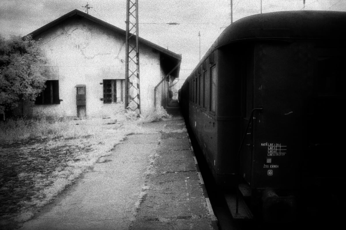 Judy Glickman Lauder Bohusovice train station near Theresienstadt concentration camp, Czech, 2018 Archival Pigment print 18 x 22""