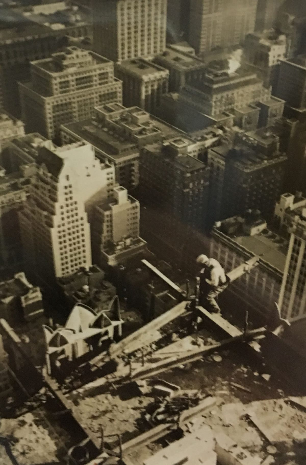 Fred Zinnemann Man on Skyscraper, 1931 Vintage gelatin silver print 3 1/16 x 2 3/16 inches