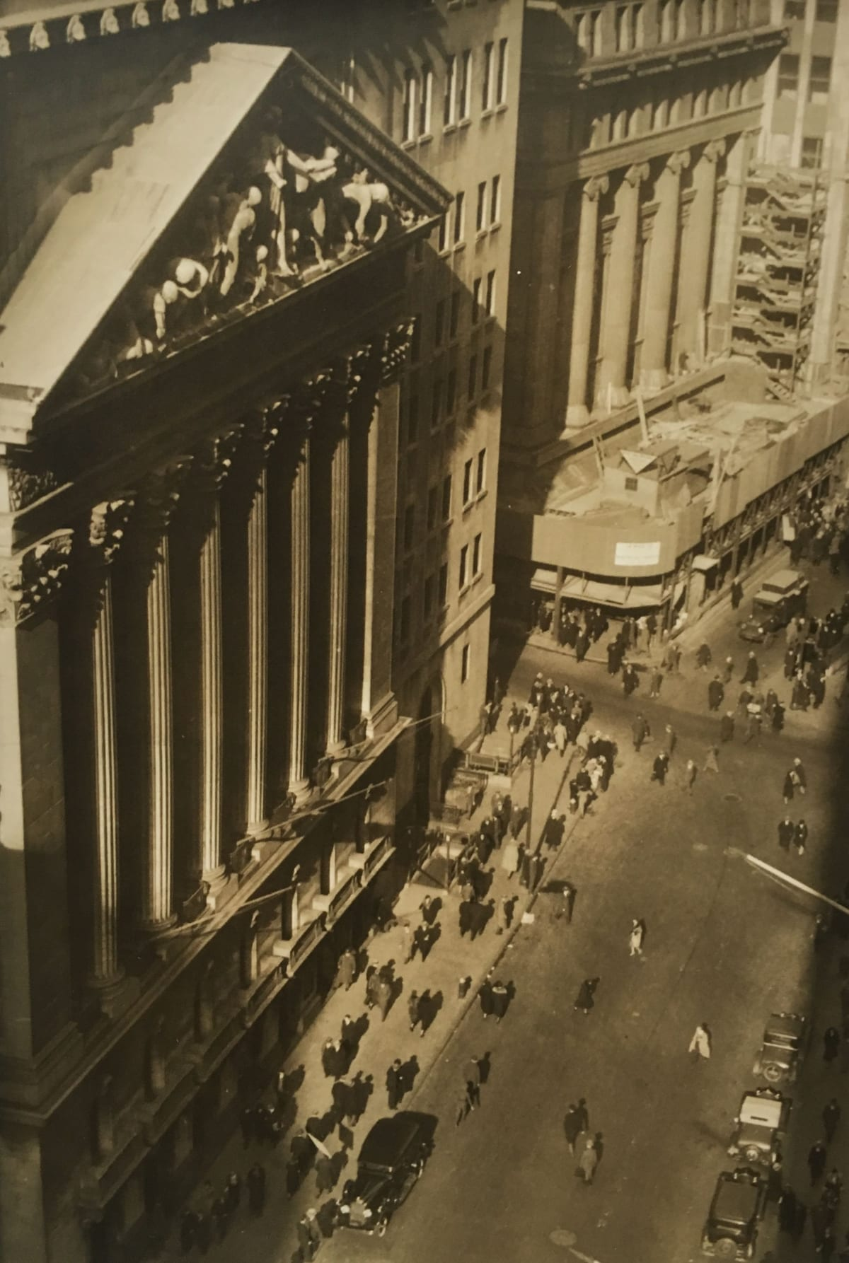 Fred Zinnemann Aerial View of City Street, New York, c. 1932 Vintage gelatin silver print 9 5/16 x 6 3/8 inches