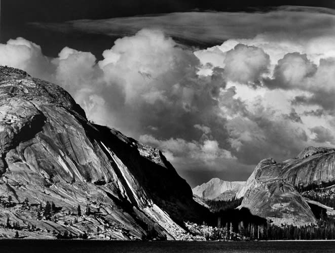 Ansel Adams 1902-1984Tenaya Lake, Mount Conness, Yosemite National Park, CA, 1946, printed 1981 Signed in pencil on recto; Titled & dated in ink with artist's copyright stamp on verso Gelatin Silver Print Mount 22 x 28 inches; Image 15 1/2 x 19 1/2 inches© Ansel Adams. Courtesy of the Ansel Adams Publishing Trust