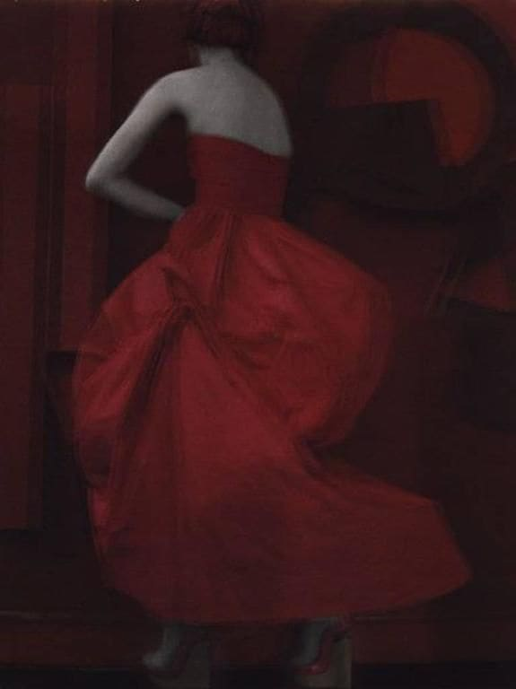 "Sarah Moon La Robe Rouge, 2010 (Printed 2019) Digital pigment print Image - 59""x74.5"" Edition 1 of 5"