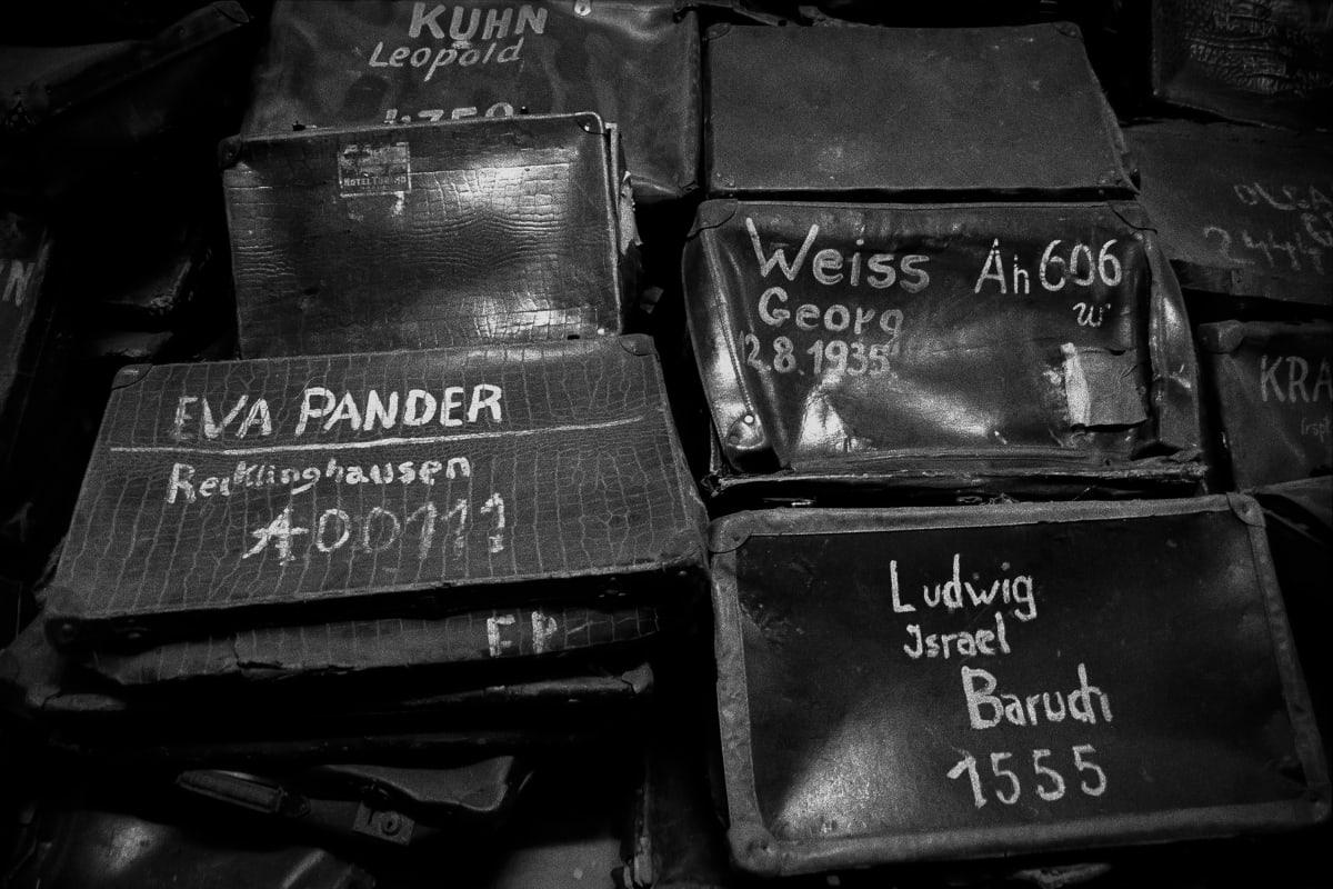 """Judy Glickman Lauder Luggage, Auschwitz extermination camp, Poland, 2018 Archival Pigment print 18 x 22"""""""
