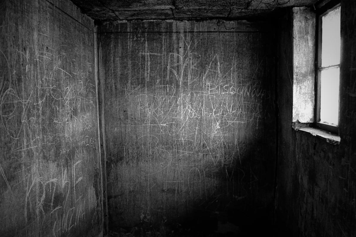 "Judy Glickman Lauder Cell, Auschwitz Extermination Camp, Poland, 2018 Archival pigment print 24 x 29"""
