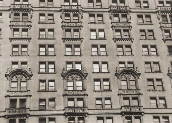 Fred Zinnemann Untitled [building windows], c. 1932 Vintage gelatin silver print 3 1/8 x 3 3/8 inches