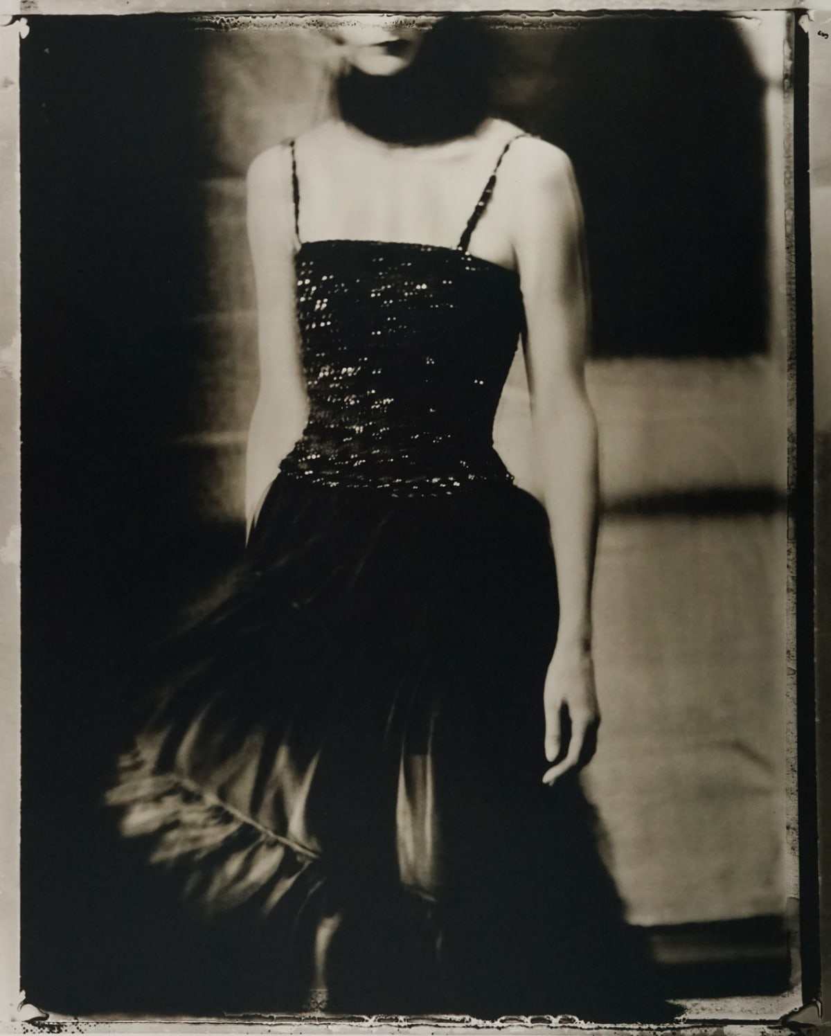 "Sarah Moon Chanel, 1993 Gelatin Silver Print Image - 17.5""x21.75"", Paper - 20""x24"", Matted - 24""x30"" Edition 1 of 20"