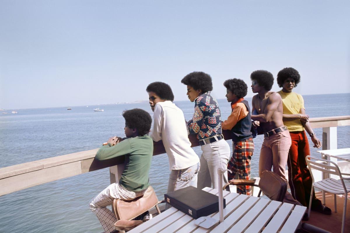 Kwame Brathwaite, Untitled (Jacksons on Boat from Goree Island), 1974, printed 2018