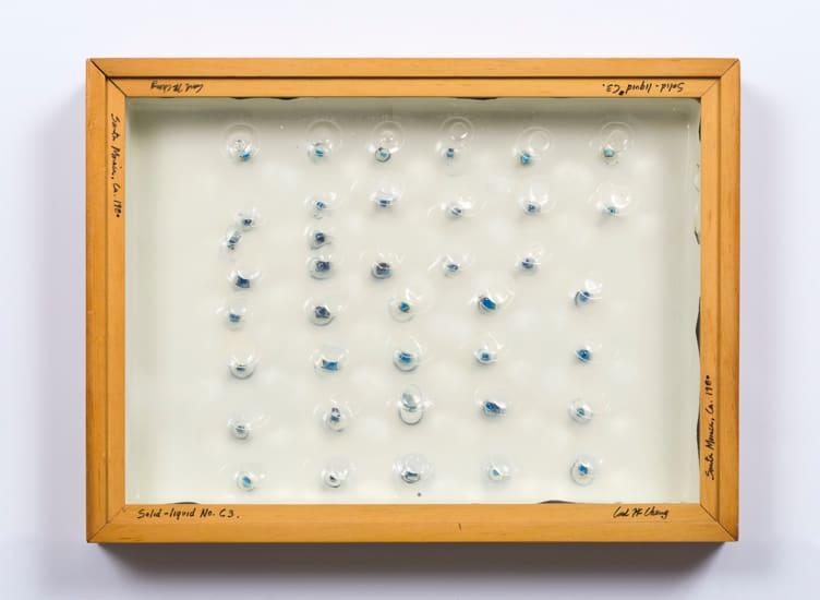 Carl Cheng, Liquid/Solid Series: Solid - liquid No. C3, 1980
