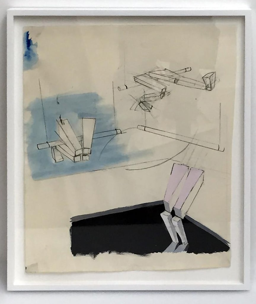 Ericka Beckman, Study for Hit and Run: Marionette, 1977