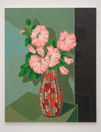 Holly Coulis, Morning Glories, Brown Vase, 2011