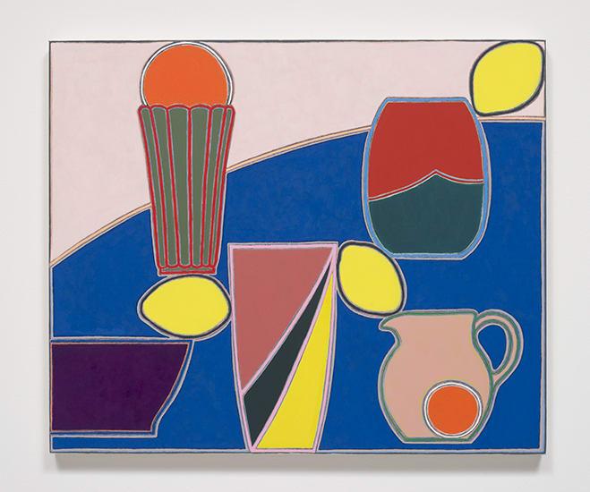 Holly Coulis, Vases, Lemons, Oranges (Arrangement), 2017