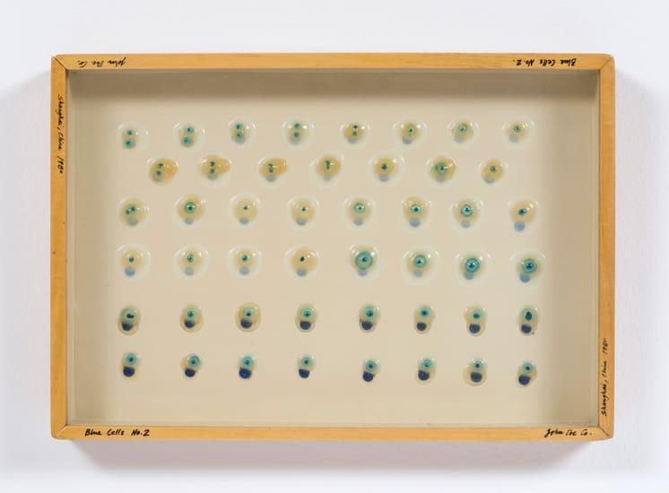 Carl Cheng, Liquid/Solid Series: Blue Cells No. 2, 1980