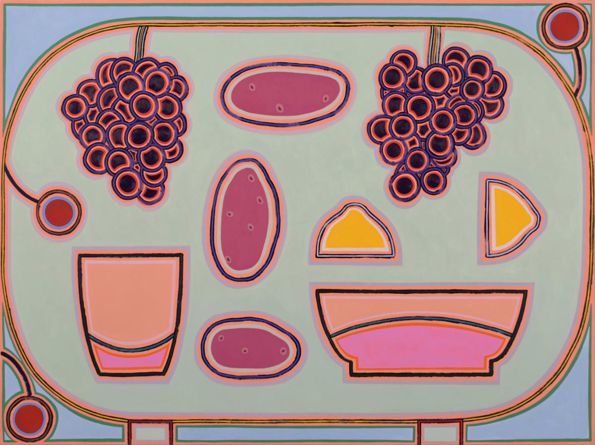 Holly Coulis, Potatoes, Grapes, and a Lemon, 2019