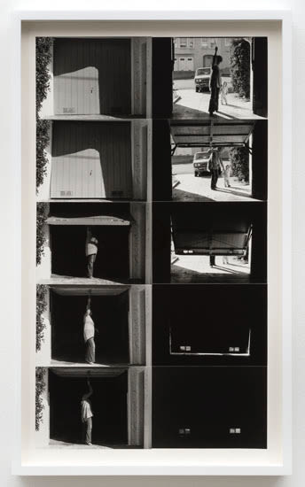 Lew Thomas, OPENING & CLOSING THE GARAGE DOOR: 2 Perspectives, 1972/2015