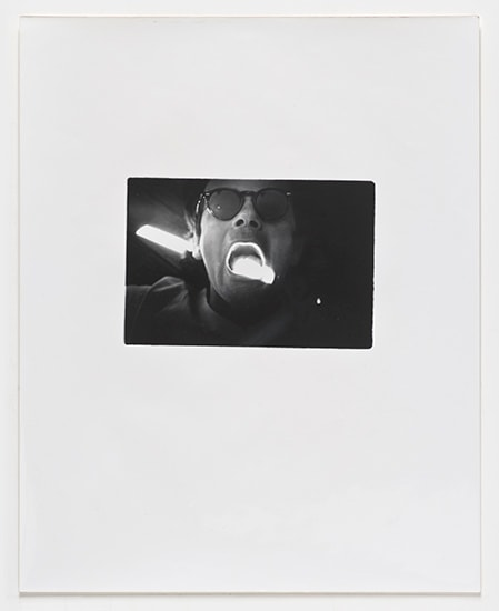 Lew Thomas, Eat/Light (Self-Portrait #1), 1972