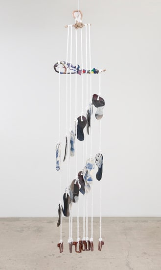 Katy Cowan, Prints and Color and Rope Variation, 2017