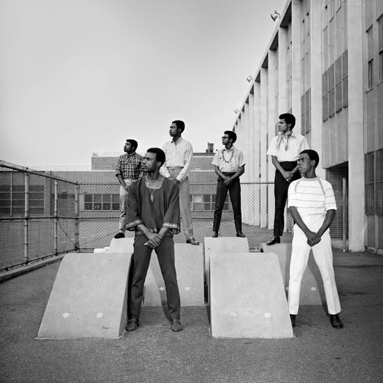 Kwame Brathwaite, Untitled (Men at photoshoot at a school in the 1960s), 1966 c., printed 2018