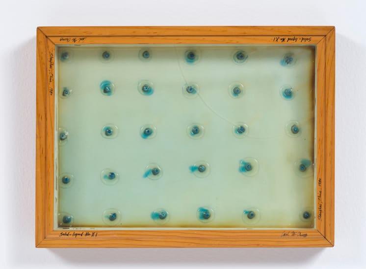 Carl Cheng, Liquid/Solid Series: Solid - liquid No. XI, 1980