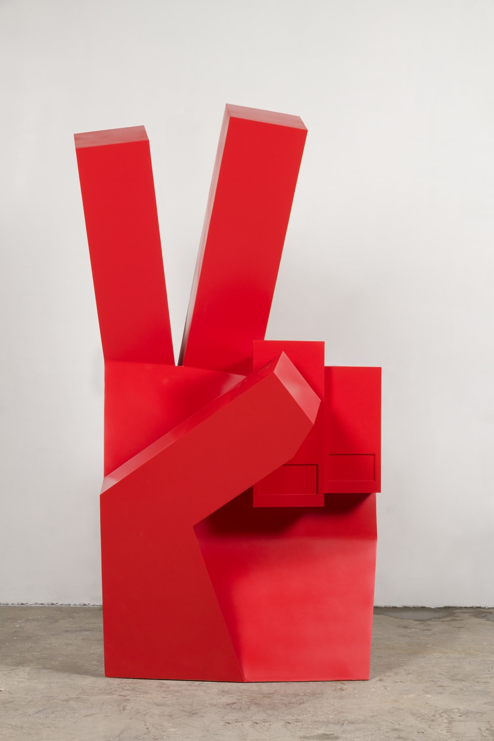 Nathan Mabry, Heavy Handed (Red Piece), 2019