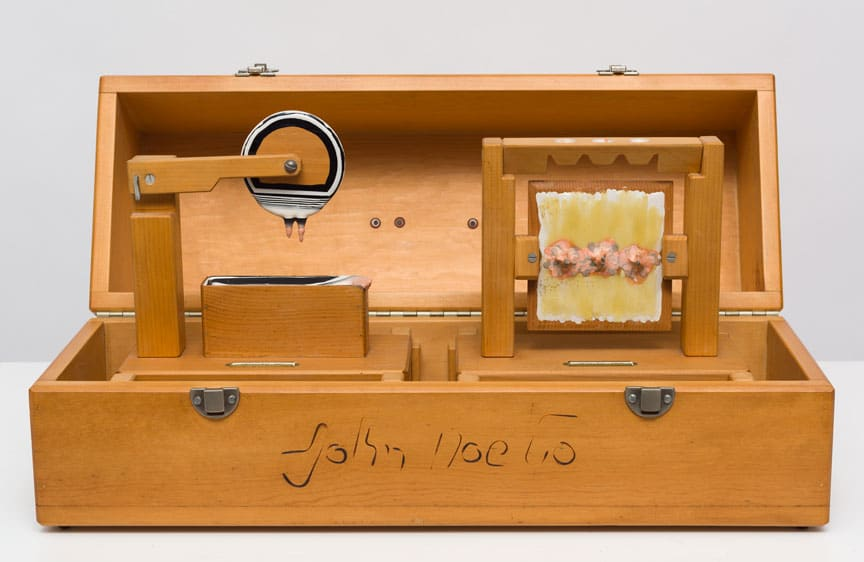 Carl Cheng, Art Tool Paint Experiments, Dip and Drip in Display Box, 1972