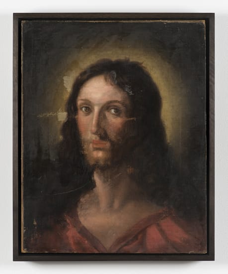 Robert Overby, Untitled (Portrait of Jesus), 1973 c.
